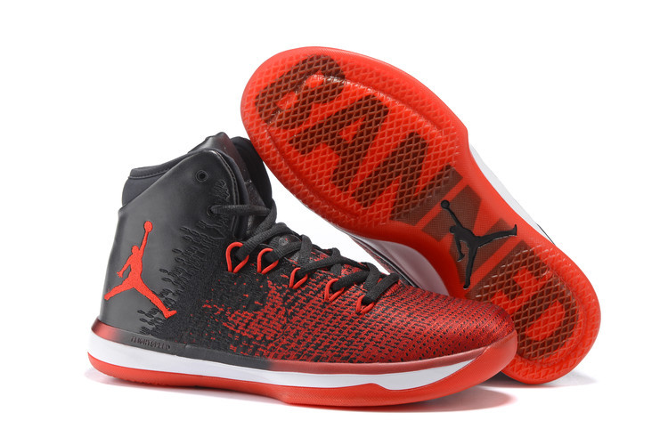 2016 Men Air Jordan 31 Red Black White Basketball Shoes