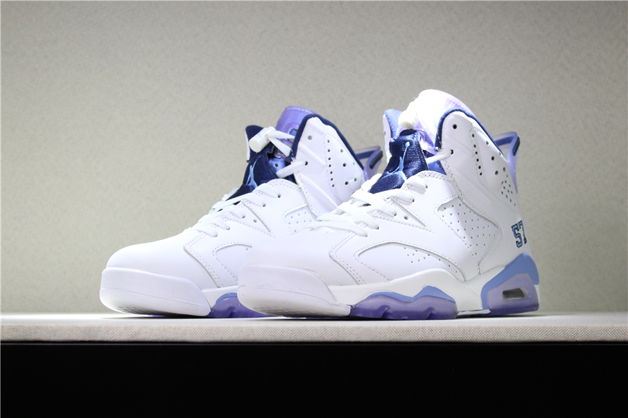 2018 air jordan 6 unc championship pe white university blue