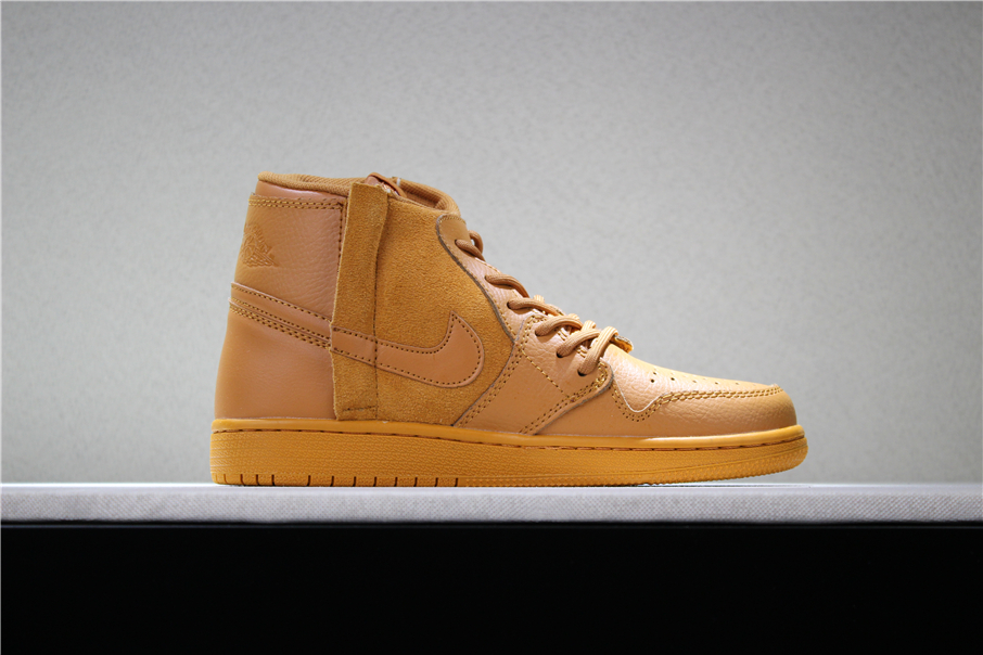 2018 latest air jordan 1 rebel wheat flax