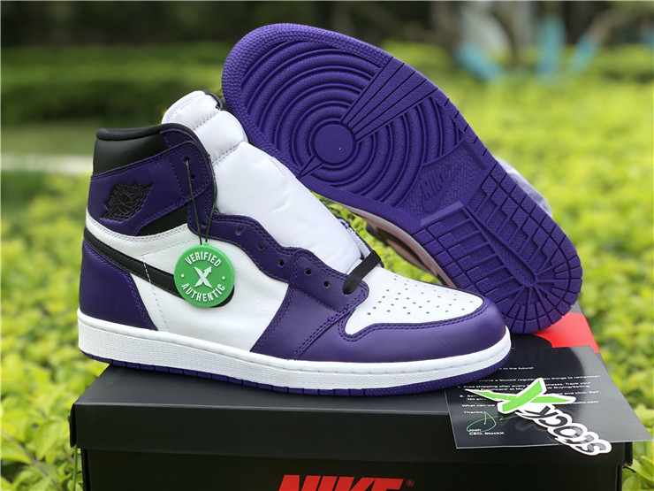 New Air jordan 1 high og court purple shoes