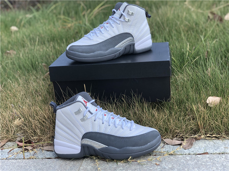 New Air jordan 12 dark grey women shoes