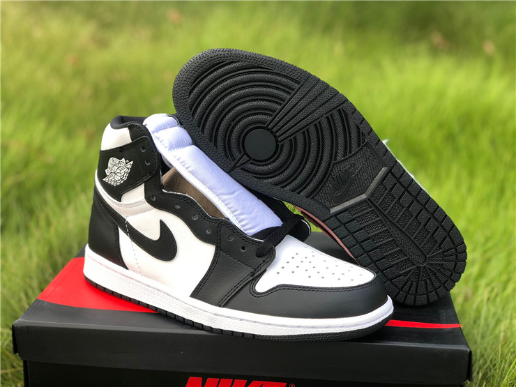 newest New Air jordan 1 retro high black white lover shoes