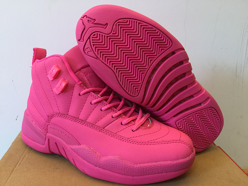 Air Jordan 12 All Pink Shoes For Women For Sale