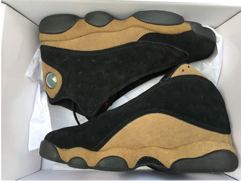 "Air Jordan 13 ""Olive"" Black True Red-Light Olive Shoes"