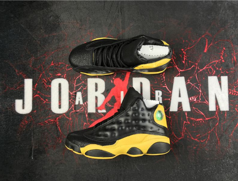 Air Jordan 13 Black Yellow Shoes