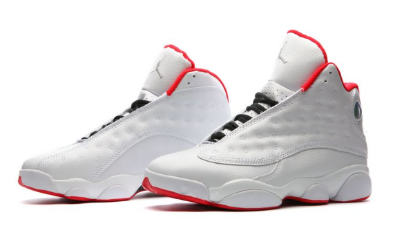 Air Jordan 13 History of Flight White University Red Metallic Silver