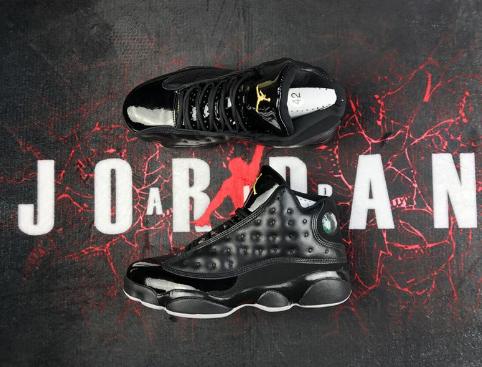 separation shoes 8228c 00816 ... promo code for air jordan 13 kawhi leonard black patent d3687 76ce8