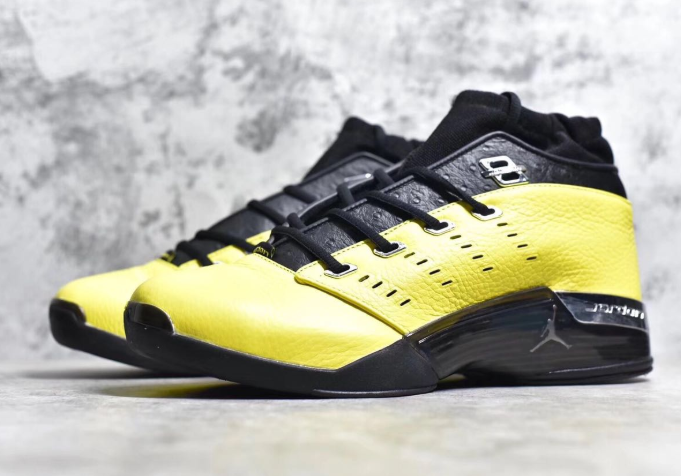 New Air Jordan 17 Low Lightning Black Metallic Silver Shoes - Click Image to Close