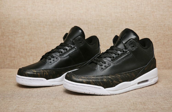 "Air Jordan 3 ""Wings"" Black White Gold Medal"