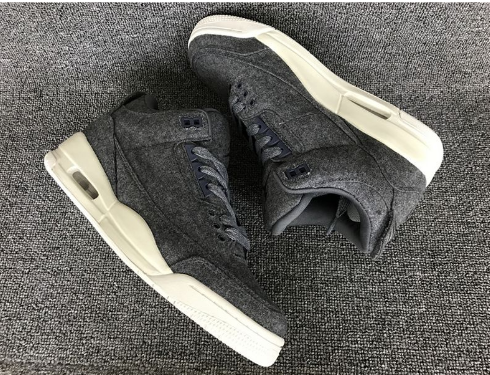 "Air Jordan 3 ""Wool"" Grey-White"