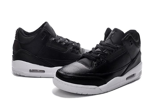 "Air Jordan 3 (III) Retro ""Cyber Monday"" Black Black White"