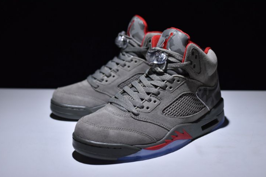 Air Jordan 5 Camo Dark Stucco Fire Red