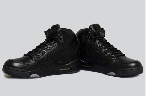 Air Jordan 5 Premium Flight Jacket Triple Black