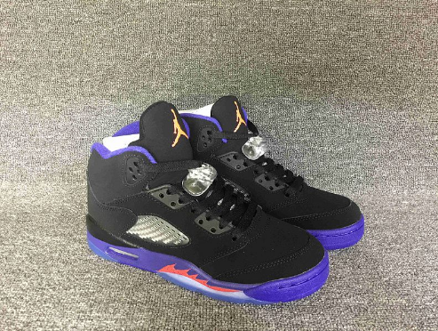 "Air Jordan 5 Retro ""Raptors"" Black Ember Glow-Fierce Purple"
