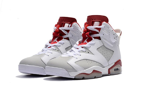 Air Jordan 6 Retro Alternate White Pure Platinum-Gym Red