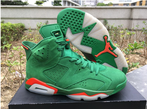 Air Jordan 6 Retro Gatorade Green Suede