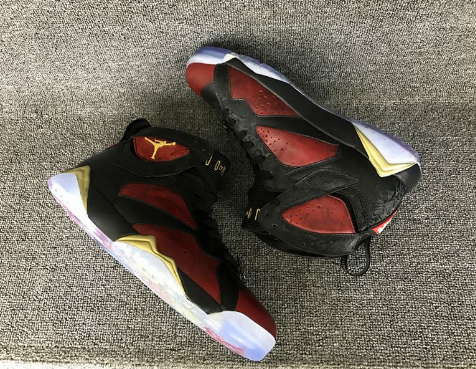 Air Jordan 7 DB Doernbecher Black University Red-Metallic Gold