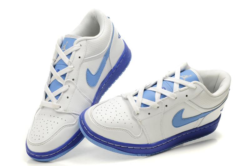 2012 Air Jordan 1 Low White Light Blue Shoes