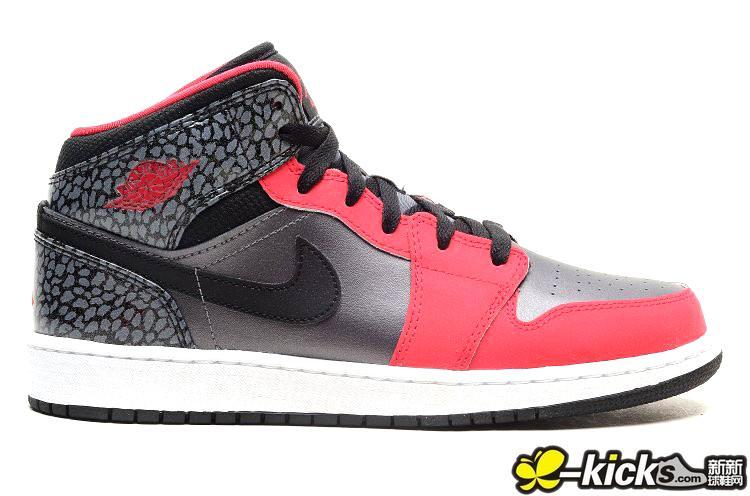 New Air Jordan 1 Pink Silver Black Shoes For Women