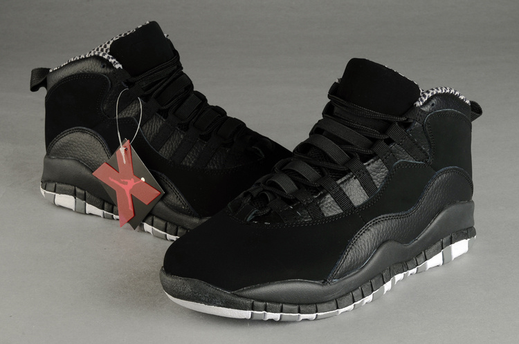 New Retro Air Jordan 10 Duplicate All Black Shoes
