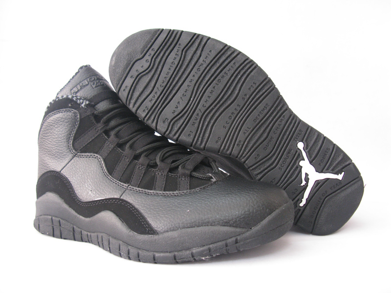 Air Jordan 10 Grey Black Shoes