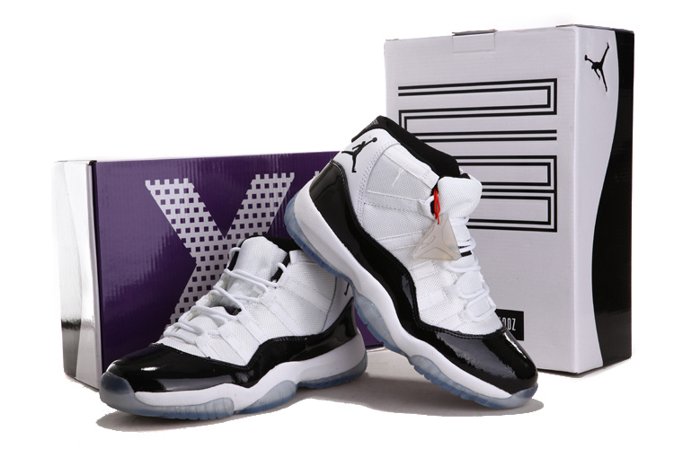 2012 Air Jordan 11 Chalcedony White Black Shoes