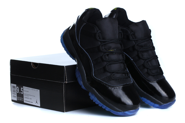 2015 Jordan 11 Low Black Blue