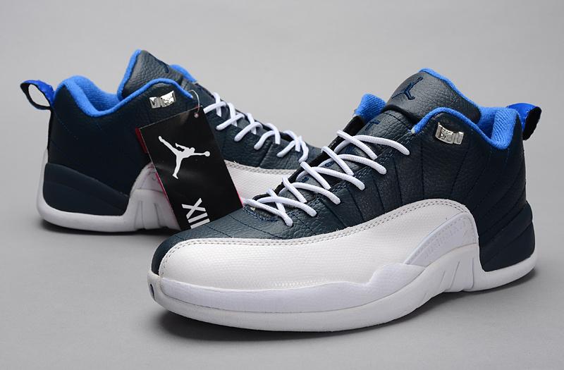 Air Jordan 12 Low 30th Blue White Shoes