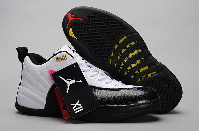 Air Jordan 12 Low 30th White Black Shoes
