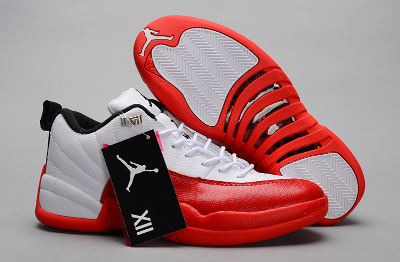 Air Jordan 12 Low 30th White Red Shoes