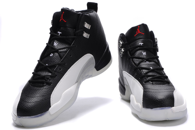 2012 Air Jordan 12 Transparent Sole Black White