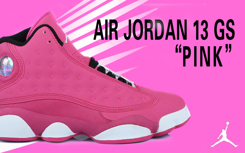 2015 Jordan 13 GS Pink For Women