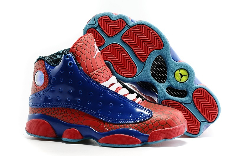 Air Jordan 13 GS Spiderman Shoes On Sale