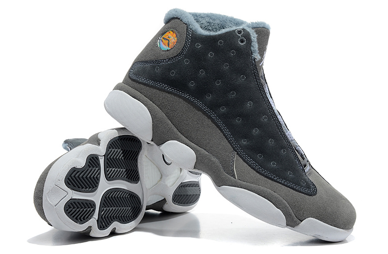 Comfortable Air Jordan 13 Wool Grey White Shoes
