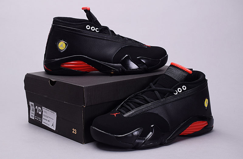 New Arrival Jordan 14 Retro Low 30th Black Red Shoes