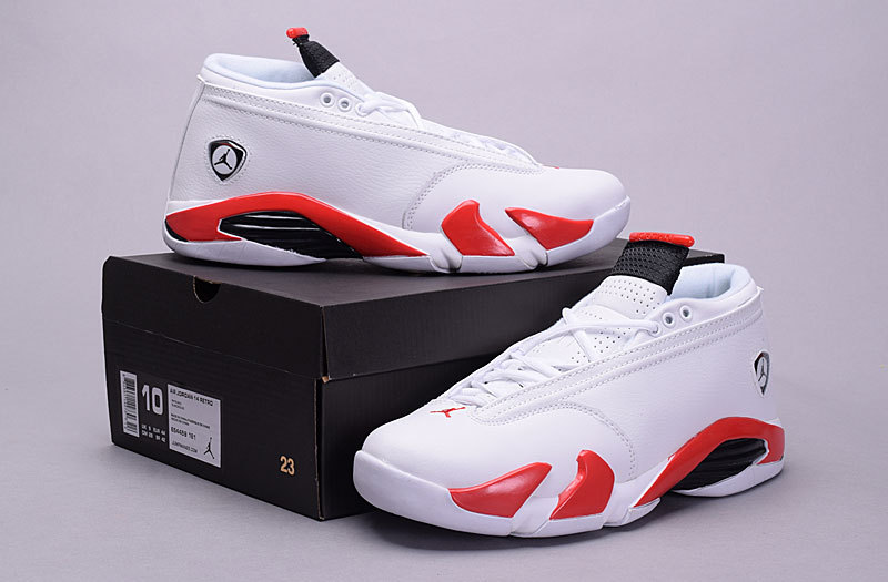 New Arrival Jordan 14 Retro Low 30th White Red Shoes