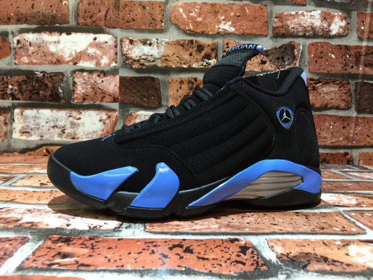 2015 Air Jordan 14 OG North Carolina Black Blue Shoes