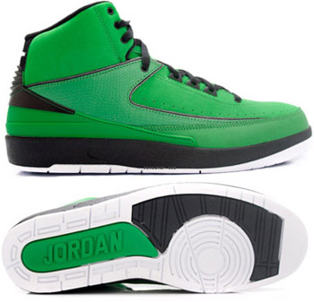 Cheap Authentic Air Jordan Retro 2 Green Chrome
