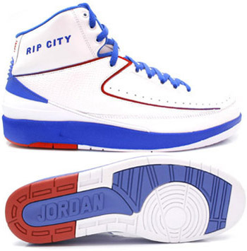 Cheap Authentic Air Jordan Retro 2 White Blue White Chrome