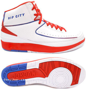 Cheap Authentic Air Jordan Retro 2 White Red Blue Chrome