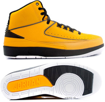 Cheap Authentic Air Jordan Retro 2 Yellow Chrome