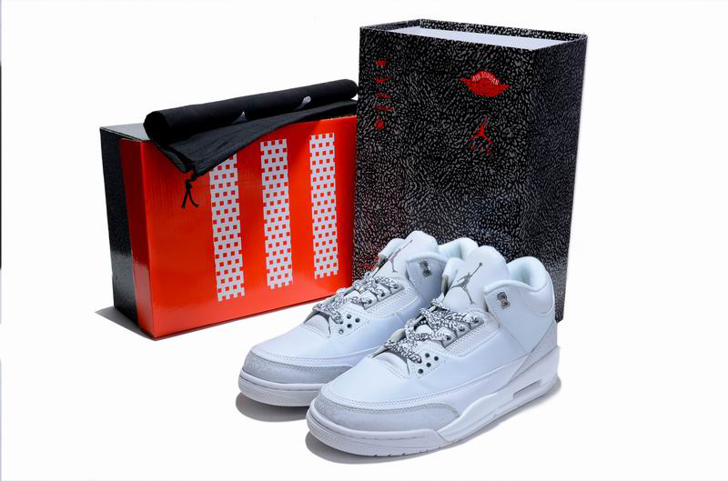 New Air Jordan 3 Hardcover Box All White