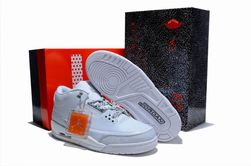 New Air Jordan 3 Hardcover Box All White - Click Image to Close