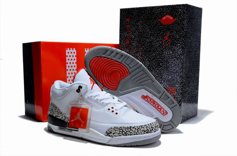 Nice Air Jordan 3 Hardcover Box White Cement Shoes