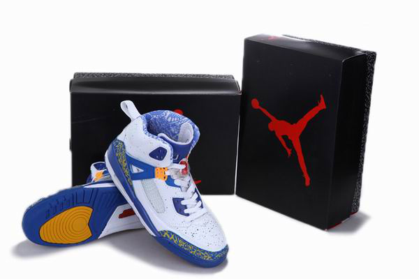 Popular Air Jordan 3.5 Reissue White Blue Yellow Shoes