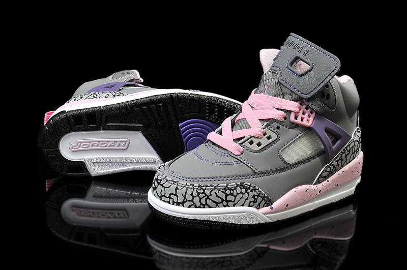 2015 Jordan 3.5 Spizike Grey Pink Purple Kids