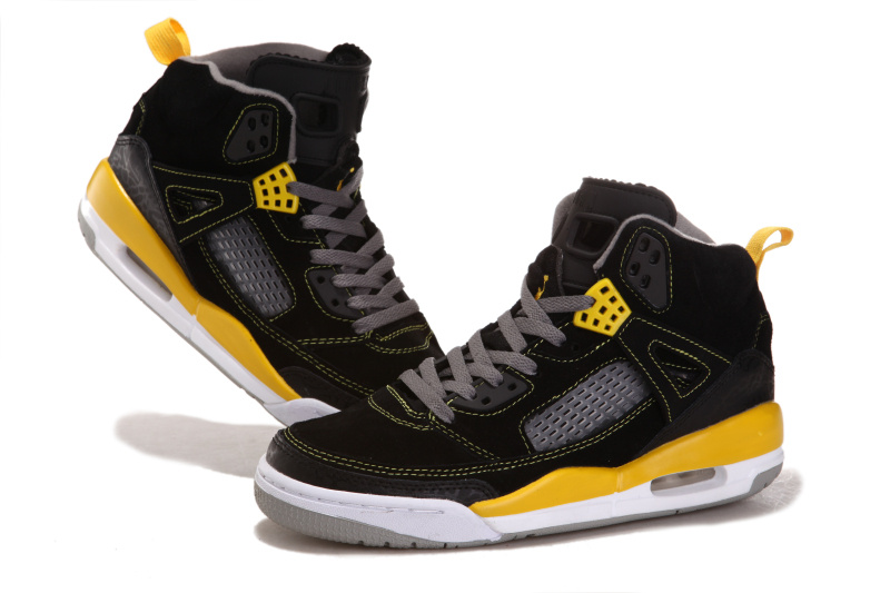 Air Jordan 3.5 Suede Black White Yellow Shoes