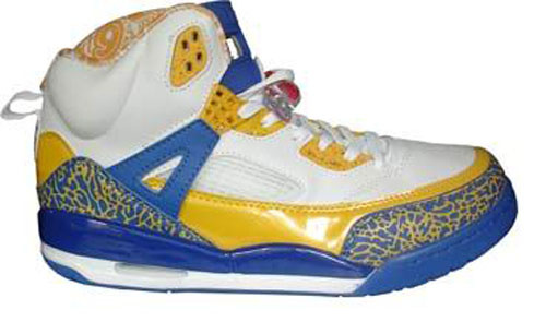 Real Air Jordan Shoes 3.5 White Yellow Blue