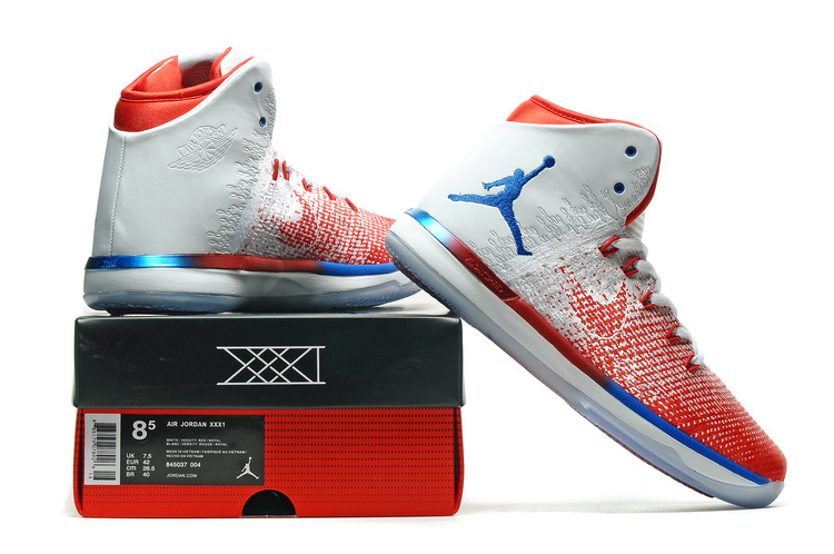 2017 Air Jordan 31 White Red Blue Shoes