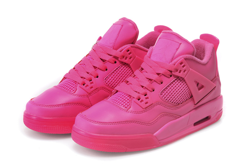 2015 Jordan 4 All Hot Pink For Women - Click Image to Close